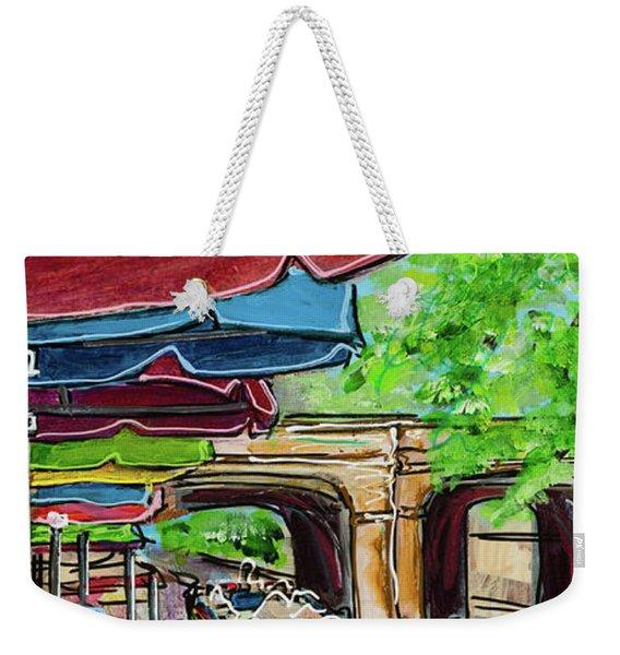 San Antonio River Walk Cafe Weekender Tote Bag