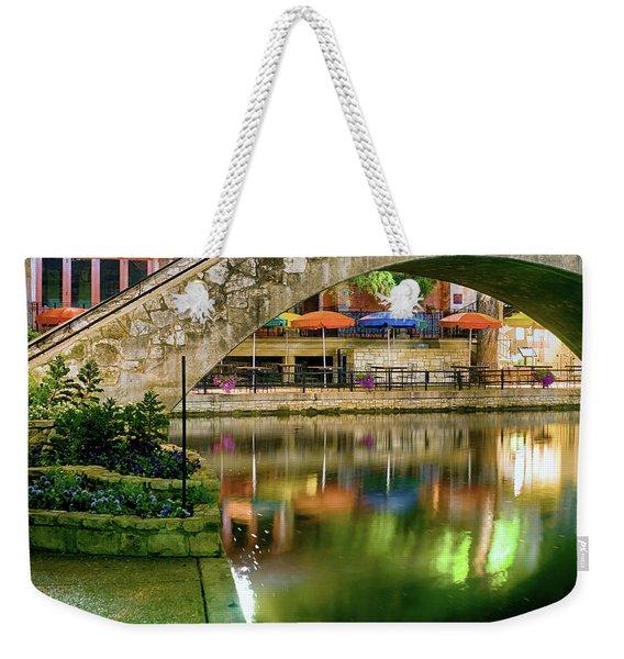 San Antonio River Walk Green Weekender Tote Bag