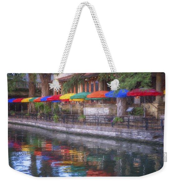 San Antonio Riverwalk Colors Weekender Tote Bag
