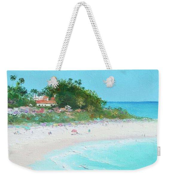 San Clemente Beach Panorama Weekender Tote Bag
