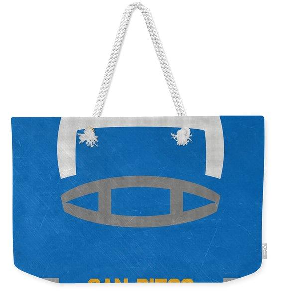 San Diego Chargers Vintage Art Weekender Tote Bag