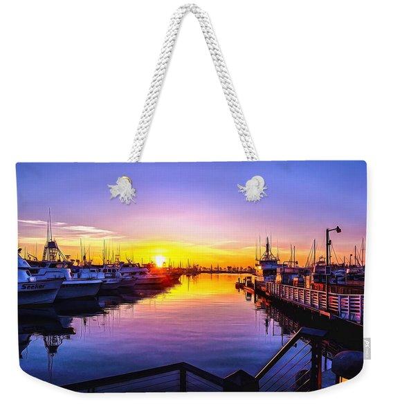San Diego Harbor Sunrise Weekender Tote Bag