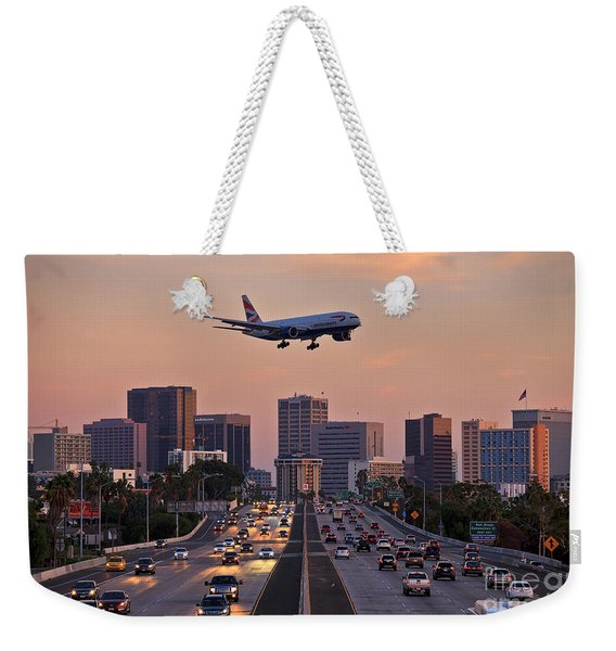 Weekender Tote Bag featuring the photograph San Diego Rush Hour  by Sam Antonio Photography