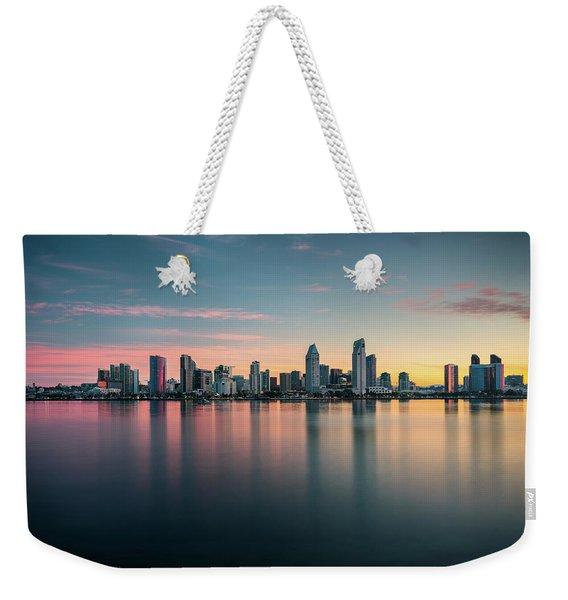 San Diego Skyline At Dawn Weekender Tote Bag