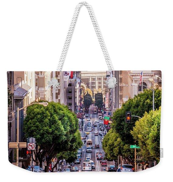 San Fran Cable Car Weekender Tote Bag