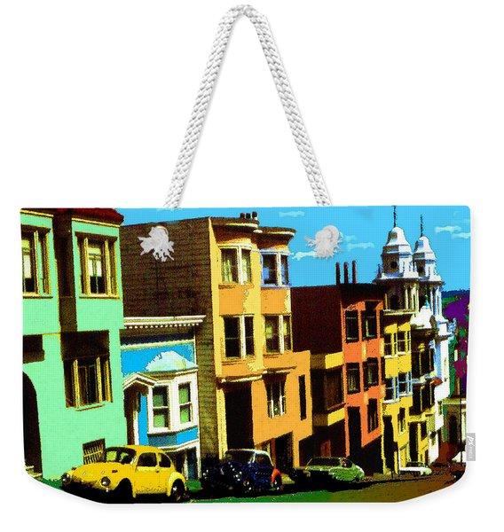 San Francisco Pop Art Blue Green Red Yellow Weekender Tote Bag