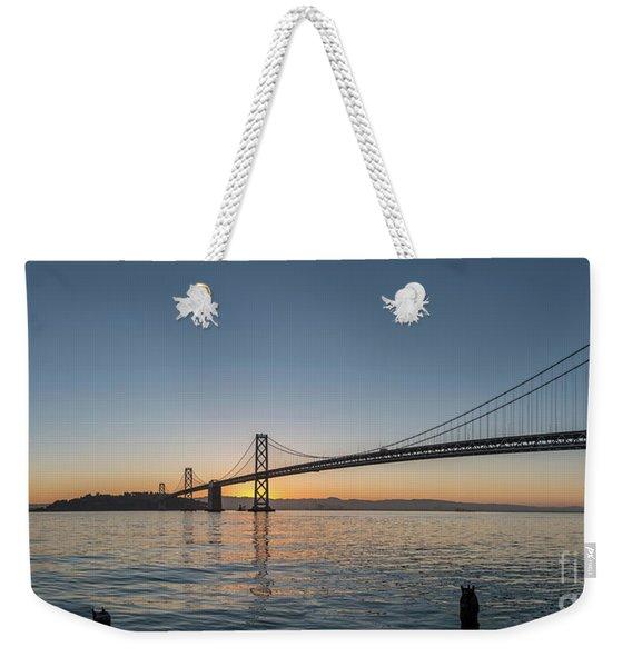 San Francisco Bay Brdige Just Before Sunrise Weekender Tote Bag
