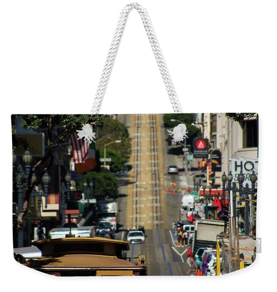 San Francisco Cable Cars Weekender Tote Bag