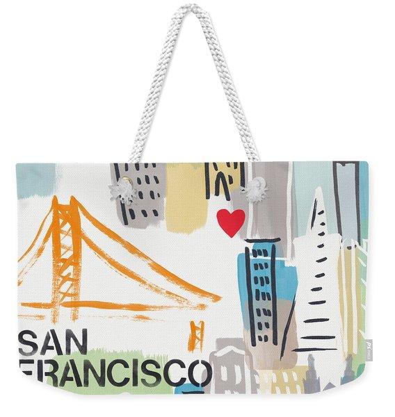 San Francisco Cityscape- Art By Linda Woods Weekender Tote Bag