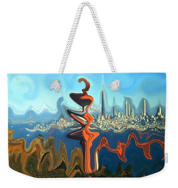 San Francisco Earthquake - Modern Artwork Weekender Tote Bag