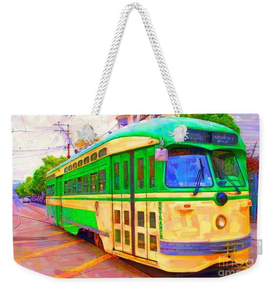 San Francisco F-line Trolley Weekender Tote Bag