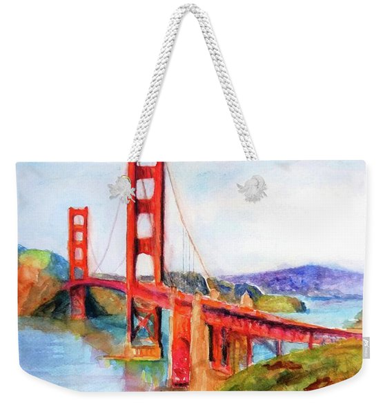 San Francisco Golden Gate Bridge Impressionism Weekender Tote Bag