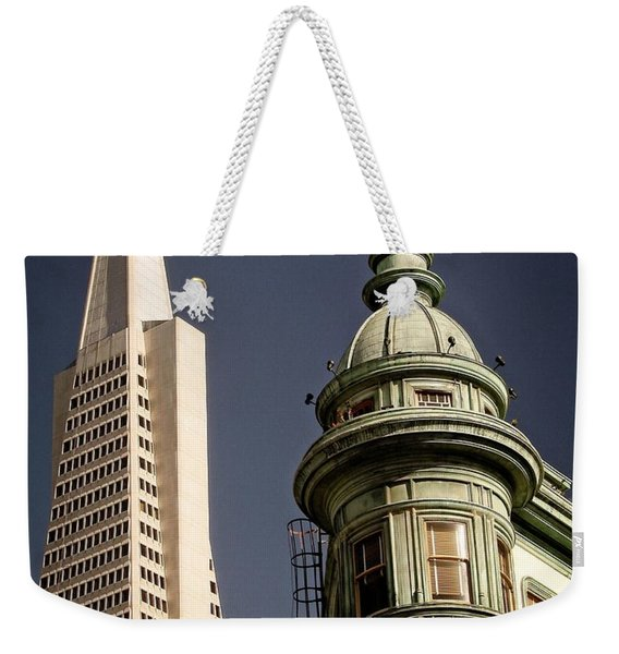 San Francisco Then And Now Weekender Tote Bag