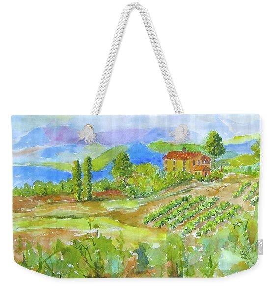 Vineyard At San Gimignano Weekender Tote Bag