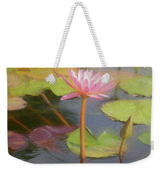 Weekender Tote Bag featuring the photograph San Juan Capistrano Water Lilies by Michael Hope