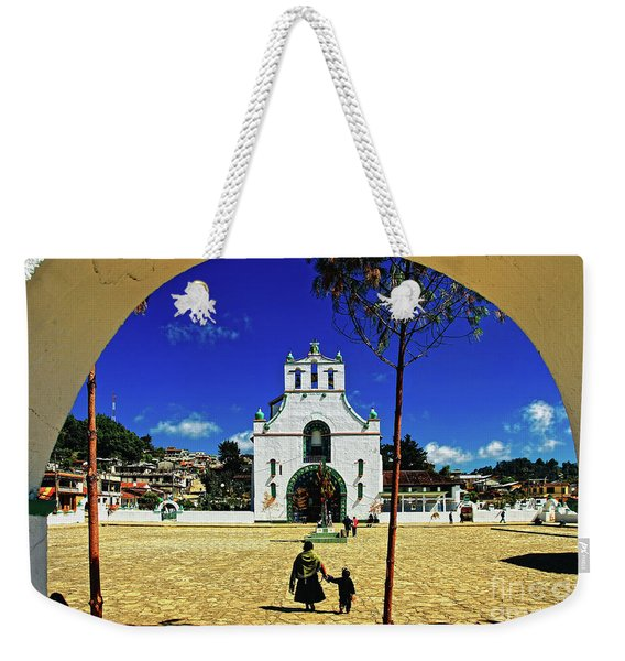 Weekender Tote Bag featuring the photograph San Juan Chamula Church In Chiapas, Mexico by Sam Antonio Photography