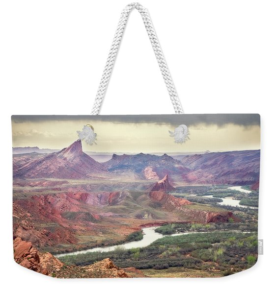San Juan River And Mule's Ear Weekender Tote Bag