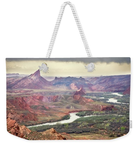 San Juan River And Mule's Ear Weekender Tote Bag