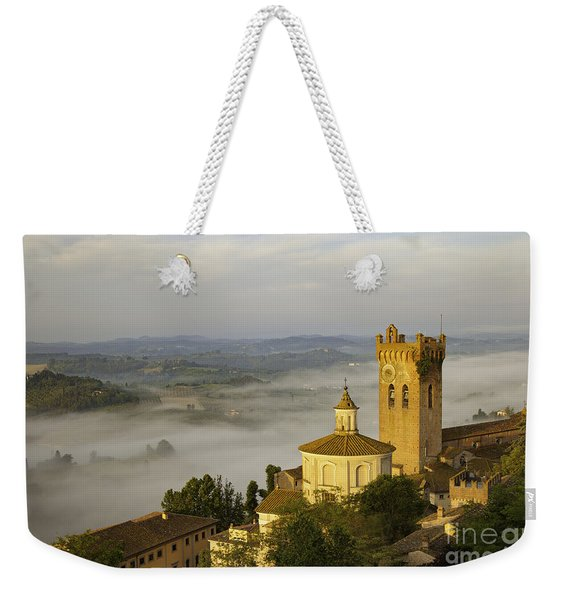Weekender Tote Bag featuring the photograph San Miniato by Brian Jannsen