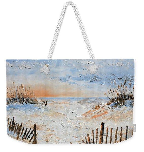 Sand Fences Weekender Tote Bag