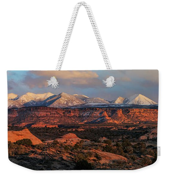 Sand Flats Sunset Weekender Tote Bag