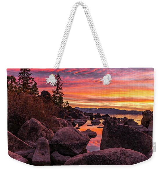 Sand Harbor Beach Weekender Tote Bag