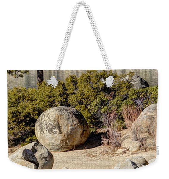 Sand Harbor Lake Tahoe Panorama Weekender Tote Bag