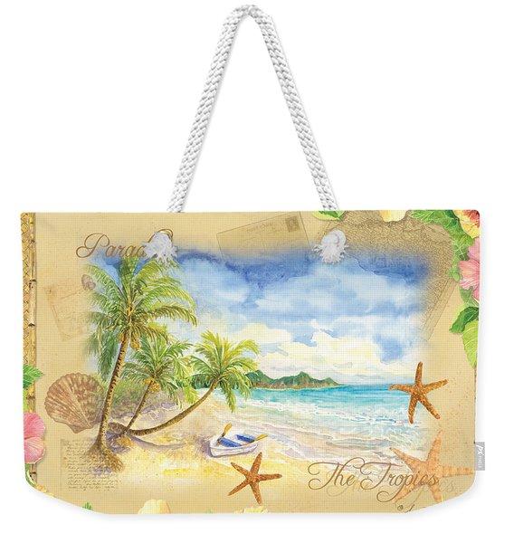 Sand Sea Sunshine On Tropical Beach Shores Weekender Tote Bag