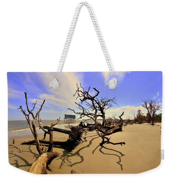 Sand Sun Beach And Little Blue Weekender Tote Bag