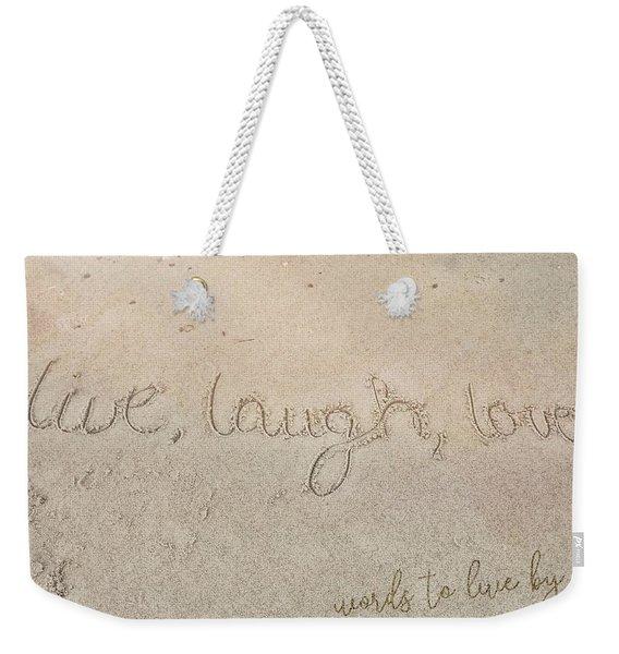 Sand Texting Quote Weekender Tote Bag