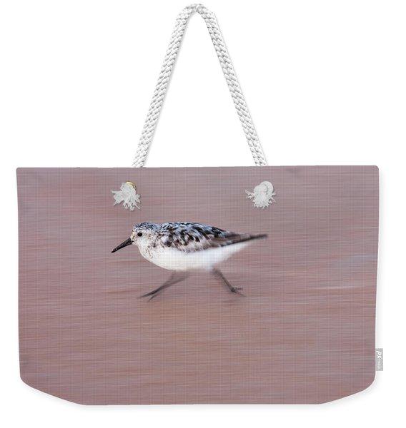 Sanderling On The Run Weekender Tote Bag