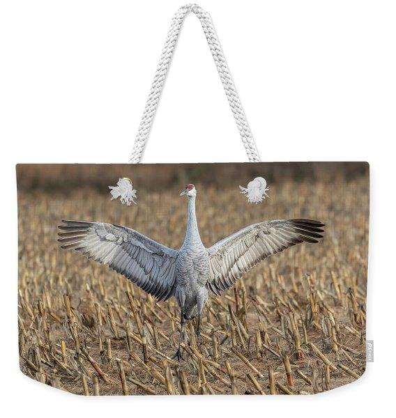 Sandhill Crane 2017-5 Weekender Tote Bag