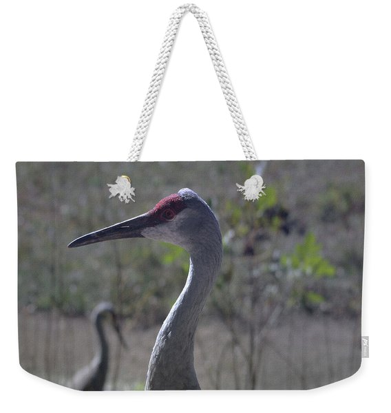 Sandhill Crane Early Fall Weekender Tote Bag
