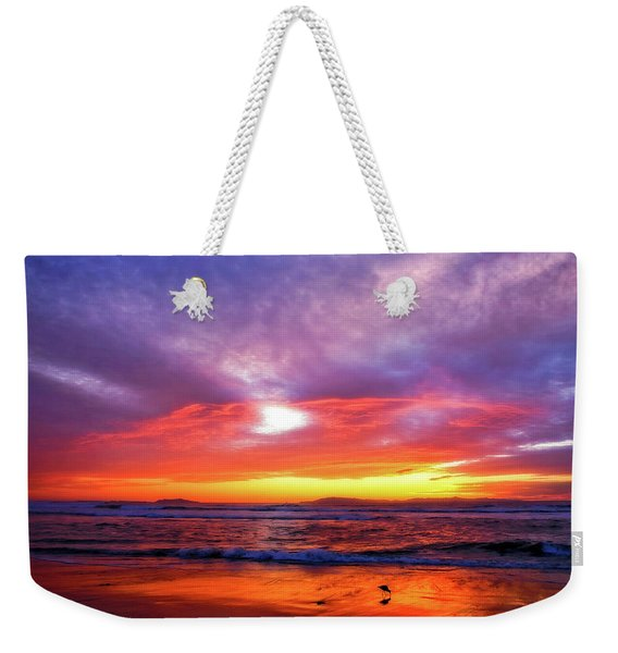 Sandpiper Sunset Ventura California Weekender Tote Bag
