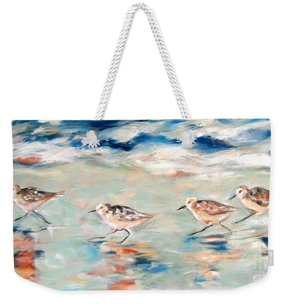 Sandpipers Running Weekender Tote Bag