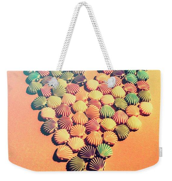 Sands Of Retro Love Weekender Tote Bag