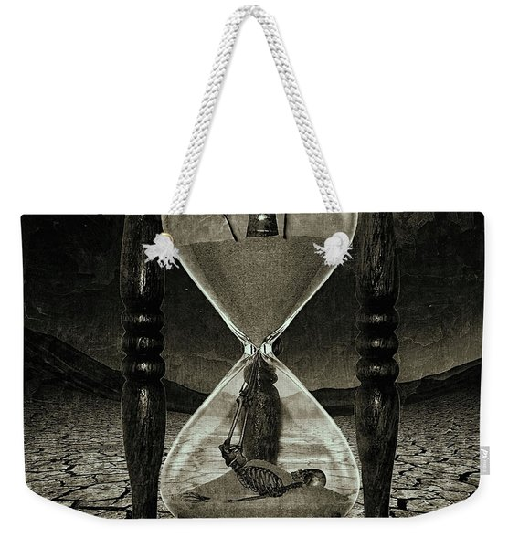 Sands Of Time ... Memento Mori - Monochrome Weekender Tote Bag