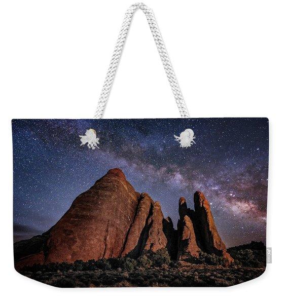 Sandstone And Milky Way Weekender Tote Bag