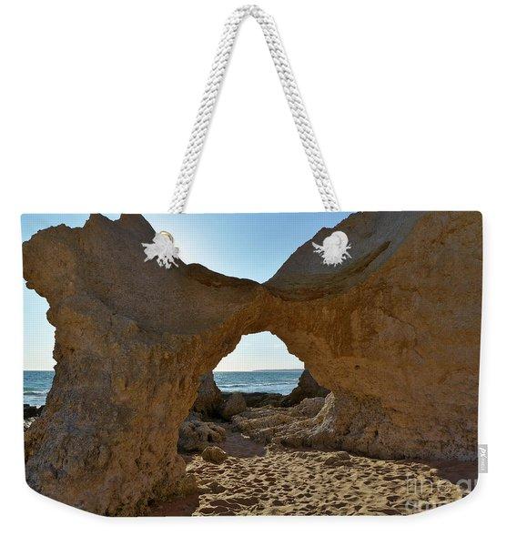 Sandstone Arch In Gale Beach. Algarve Weekender Tote Bag