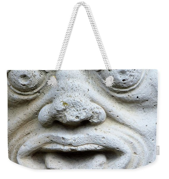 Sandstone Sculpture At The Main Entrance Of The Corvey Monastery Weekender Tote Bag