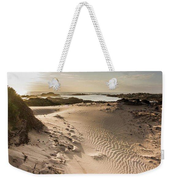 Sandy Beach Haven Weekender Tote Bag