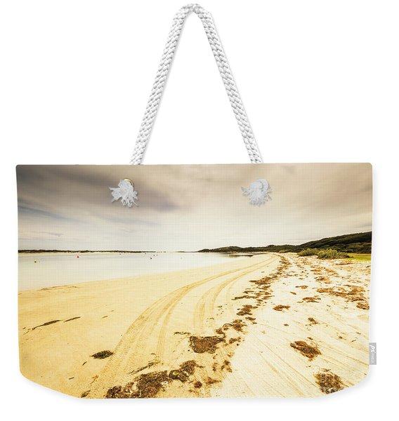 Sandy Tasmanian Shores Weekender Tote Bag