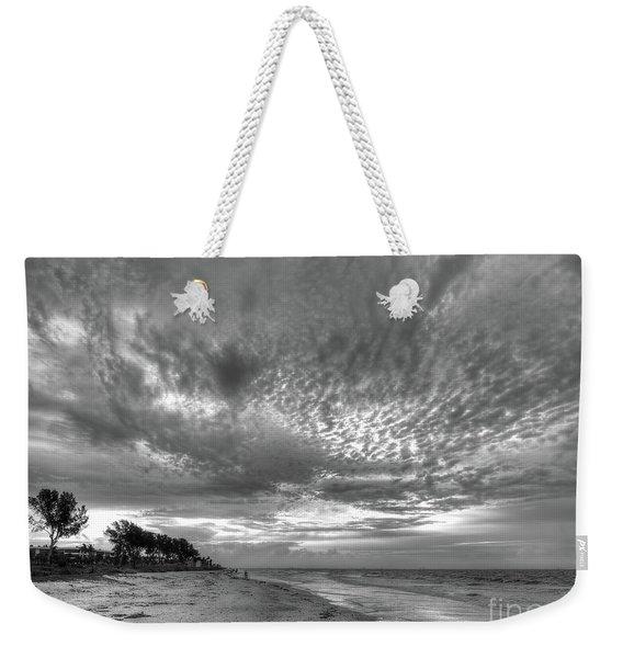 Sanibel Island Sunrise In Black And White Weekender Tote Bag