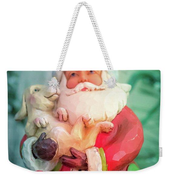 Santa And Lab Pup Weekender Tote Bag