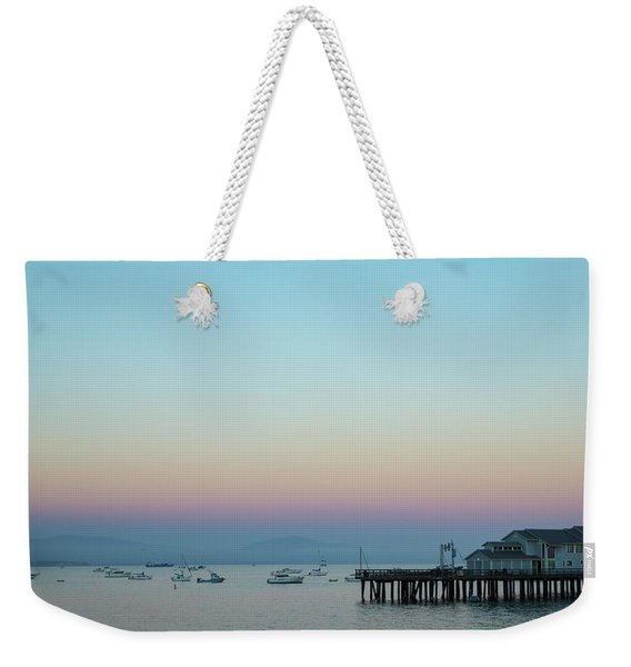 Santa Barbara Pier At Dusk Weekender Tote Bag