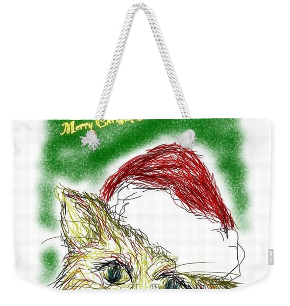 Santa Cat Weekender Tote Bag