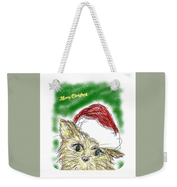 Santa Cat Weekender Tote Bag