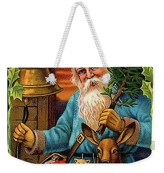 Santa Claus Ringing A Bell Weekender Tote Bag