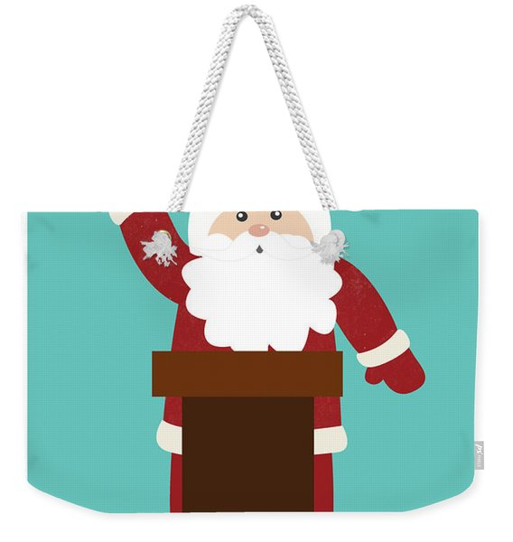 Santa Clinches The Nomination- Art By Linda Woods Weekender Tote Bag