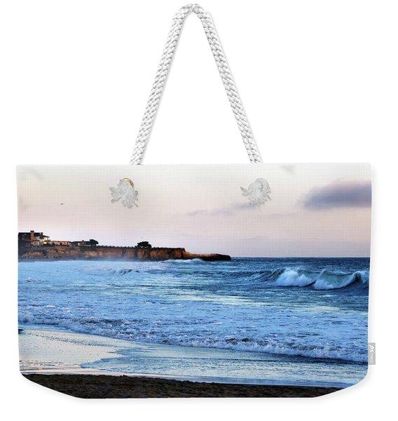 Santa Cruz Bay Waves Weekender Tote Bag